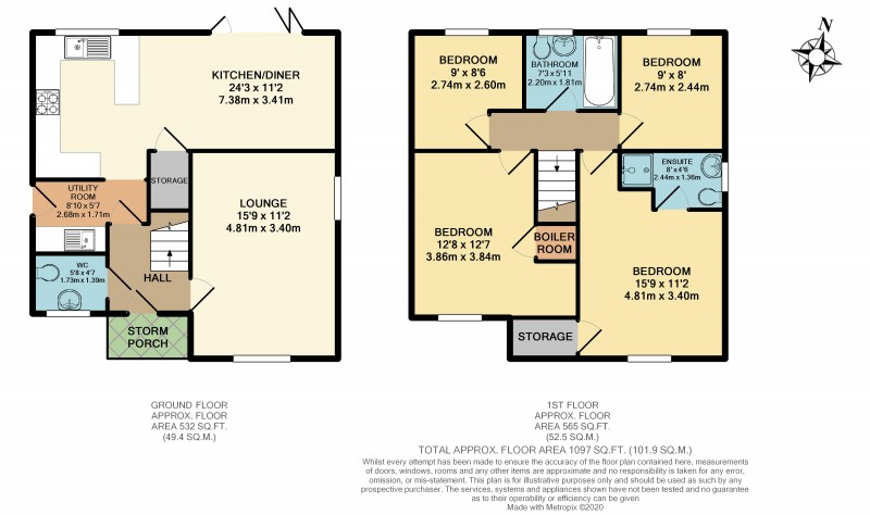 Floorplans For Upholland Gardens, Chequer Lane, Upholland, WN8