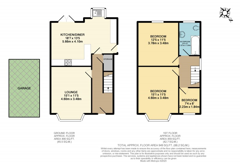 Floorplans For Wigan Road, Standish, WN6 0AY