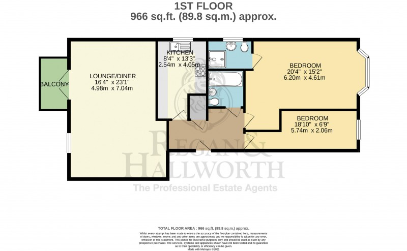 Floorplans For Apartment 4, Wigan Road, Standish, WN1 2RF