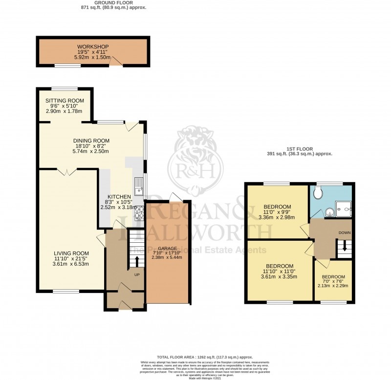 Floorplans For Tennyson Drive, Billinge, WN5 7EJ