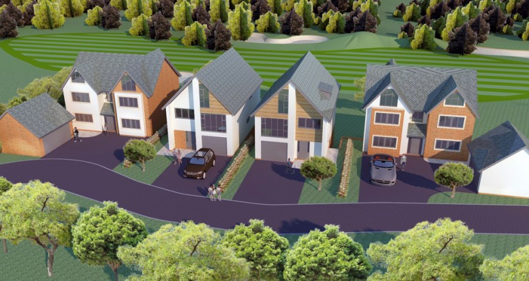 Five stunning eco homes overlooking Dean Wood Golf Course launched.