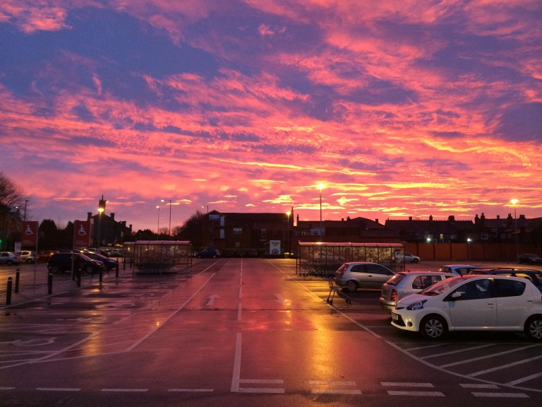 Awesome sunrise in Burscough
